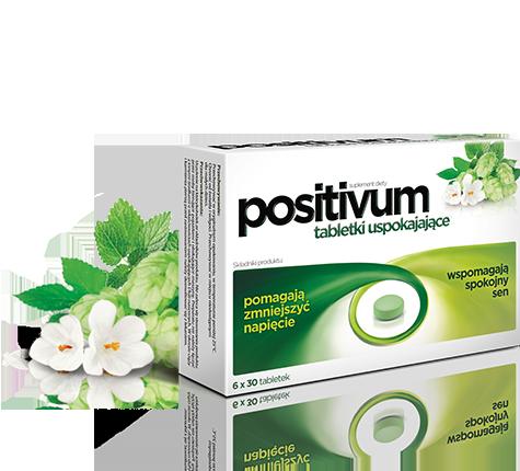 opakowanie tabletek uspokajający positivum z ziołami