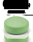 zielona tabletka z napisem 0,17 zł za tabletkę