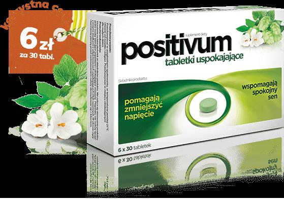 opakowanie tabletek uspokajających positivum